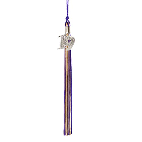 Class Act Graduation Purple and Old Gold Graduation Tassel Year 2019 with Bling Charm ()