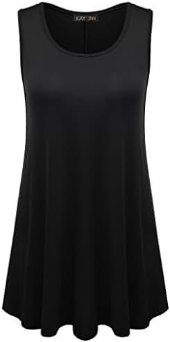 Womens Sleeveless Tunic Tops