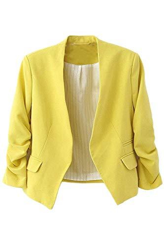 Cappotto Giovane Lunga Puro Tasche Vintage Slim Colore Giaccone qfEnfxvr1w