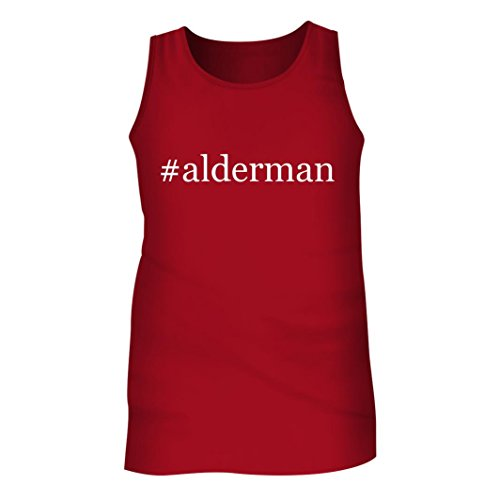 Brian Men Shirts Dales (Tracy Gifts #alderman - Men's Hashtag Adult Tank Top, Red, Large)
