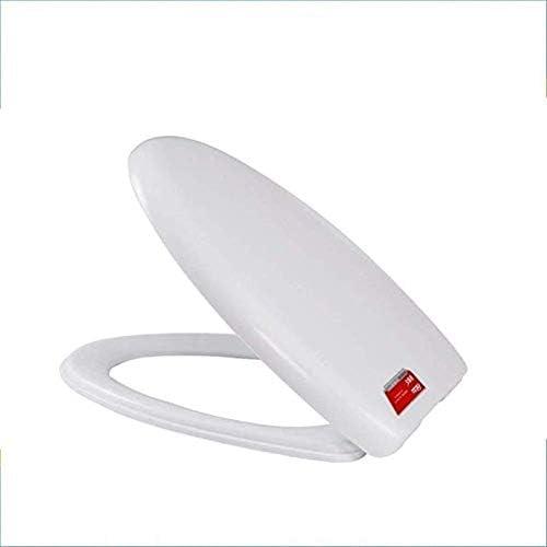 Andou Nk ミュートクイックリリース肥厚トップ付き便座互換性の便座は、超耐性トイレのふたVシェイプトイレ、ホワイト40〜44cmの* 34cmのマウント