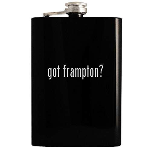 (got frampton? - Black 8oz Hip Drinking Alcohol Flask)