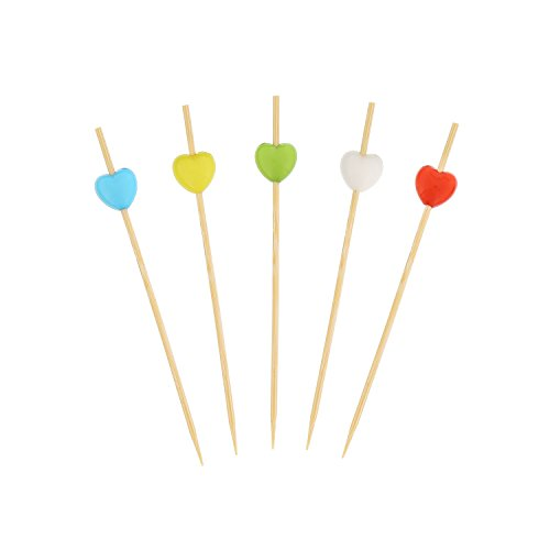 CiboWares 3.5'' Assorted Heart Bamboo Picks with Ball End, Case of 10,000 by CiboWares (Image #1)
