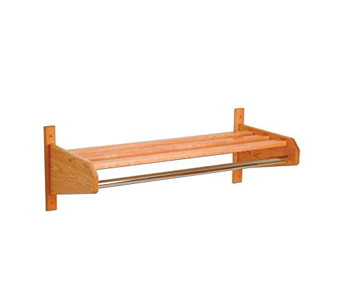 Wood & Style Coat and Hat Rack Light Oak Decor Comfy Living Furniture Deluxe Premium Collection