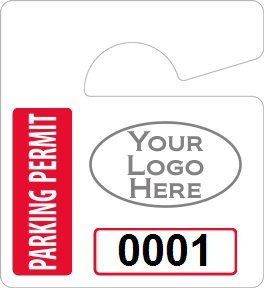 Plastic toughtags parking permit mini for Hanging parking permit template free