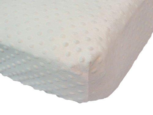 Caught Ya Lookin' Fitted Minky Crib Sheet, Cream from Caught Ya Lookin'