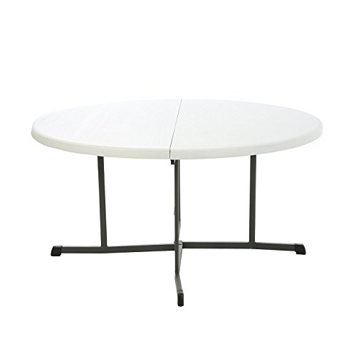 """Lifetime 60"""" Round Fold-in-half Commercial Grade Table, W..."""