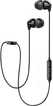 Philips Audio UpBeat SHB3595 Wireless Headphones, with up to 6 Hours of Playtime, in-line Mic - Black