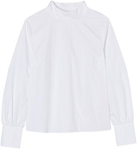 Manches Unie Femme FIND Longues Blanc Blouse U0xAEwPq