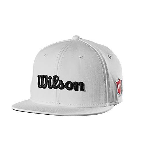 (Wilson Flat Brim Golf Hat Junior, White)