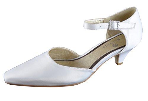 Brautschuhe chaussures chaussures escarpins mariage ivoire 08619 blanc crème - - Cremeweiß (ivory),