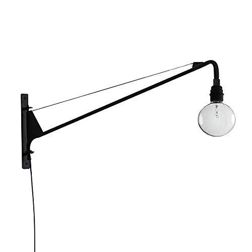 SUSUO Lighting Open Bulb Style Swing Wall Lamp with 24