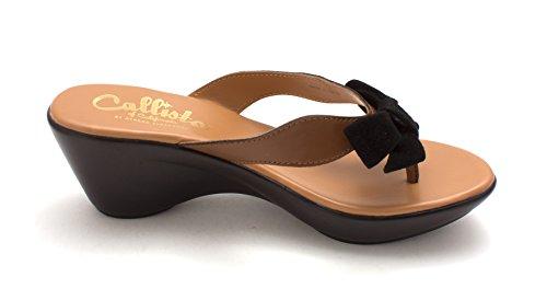 Callisto Womens bonnye Fabric Split Toe Casual Slide Sandals Tan dk5HW