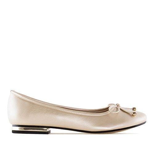 Andres Machado TG107 - Loafer mit gleichfarbiger Schleife.EU 42 bis 45 Soft Gold