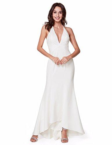 Ever-Pretty Long Fit Asymmetrical Hem Sexy V-Neck Evening Dress for Women 14 US (Asymmetrical Evening Gown)