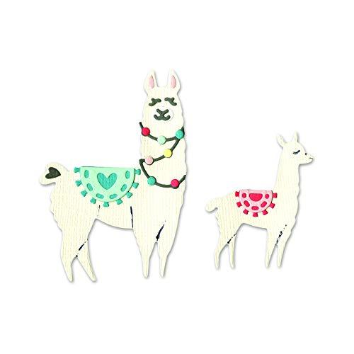 (Sizzix 663594 Llama & Baby Llama Dies Multicolor)