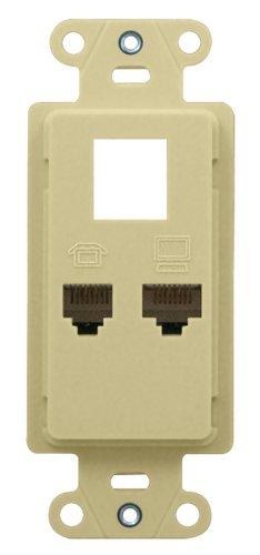 Legrand - On-Q WP1000LA PDP Phone/Data/Power Standard Strap (3 P w/Data), Light Almond by Legrand-On-Q