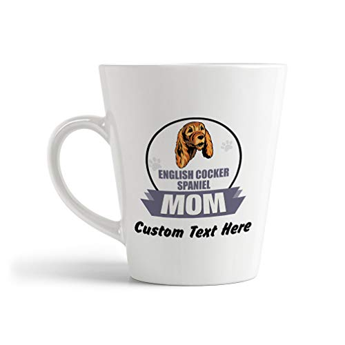 Ceramic Custom Latte Coffee Mug Cup Mom English Cocker Spaniel Dog Tea Cup 12 Oz Personalized Text Here 1