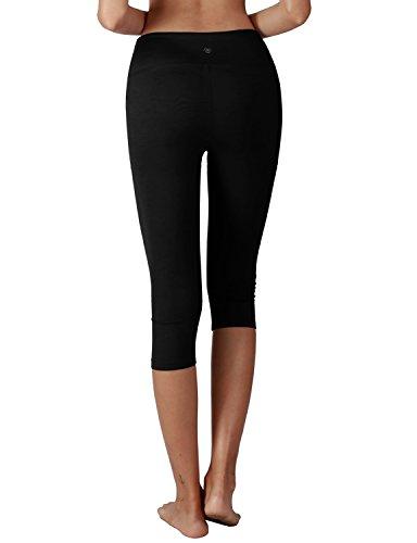 YOGARURU Women's Tummy Control Active Tights Yoga Running Leggings Capris