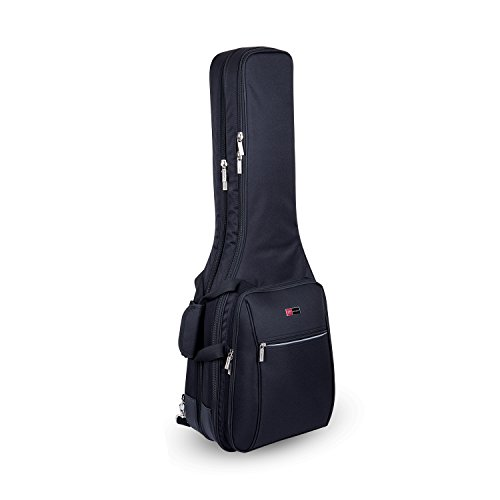 Crossrock CRDG105DEBK Case Deluxe Double 2 x Electric Guitar Gig Bag, Black