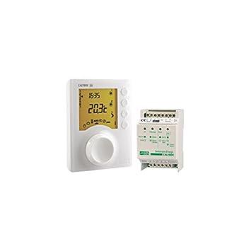 Merveilleux Delta Dore   Programmateur Du0027energie Pour Chauffage Electrique Calybox  220 Coloris Blanc