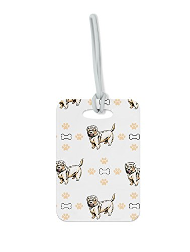 "Price comparison product image Dutch Smoushond Dog Bones Paws Luggage Tag Finder Brief Case - size 1.75"" x 3.5"""