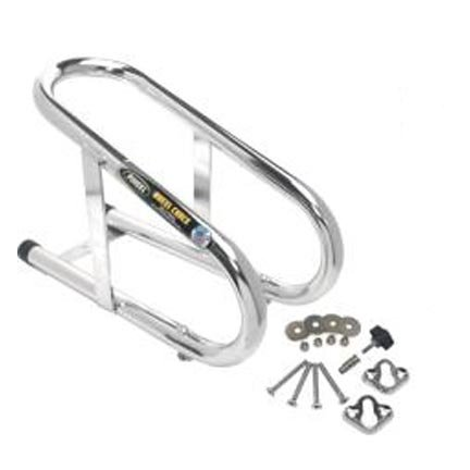 PINGEL 3.5 REMOVABLE CHROME WHEEL CHOCK FOR HARLEY