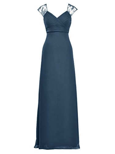 Evening Gown Dress Blue Bridesmaid Party Long Empire Alicepub Ink Prom Formal Maxi Waist tvawaqn0