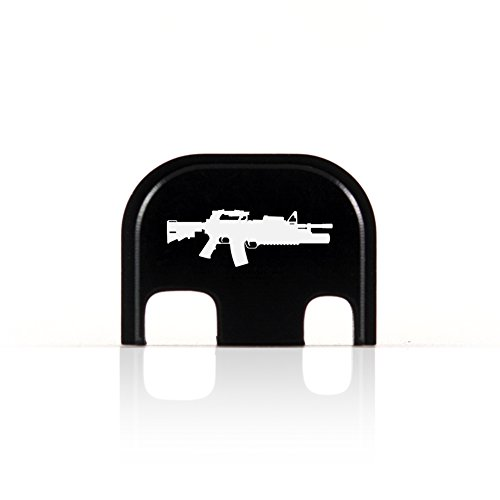 M4 w/ M203 Grenade Launcher Rear End Cover Back Slide Plate for Glock ()