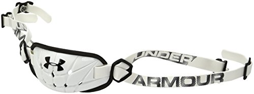 Under Armour Men's Gameday Armour Chin Strap, White (100)/Black, One Size