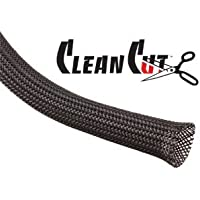 Techflex 1/2 Clean Cut Sleeving 25 feet Black by Techflex