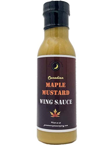 PREMIUM | Canadian MAPLE MUSTARD Sauce | CRAFTED in Small Batches with Farm Fresh SPICES for Premium Flavor and Zest (Maple Mustard Glaze)