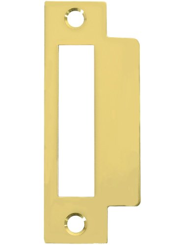 Large Brass Plated Replacement Strike Plate - 4 7/8