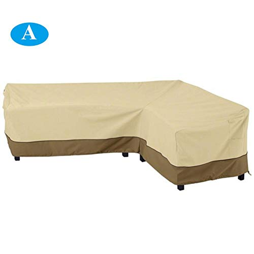 (Labyrinen Sectional L Shaped Sofa Cover, Veranda Patio 210D Waterproof Oxford Cloth Stretch L Shaped Sofa Cover)