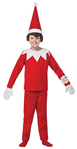UHC Boy's Elf on a Shelf Outfit Christmas Theme Fancy Dress Child Costume, Child OS (7-10)