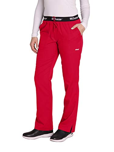 Grey's Anatomy Active 4275 Drawstring Scrub Pant Scarlet Red - Scarlet Pants