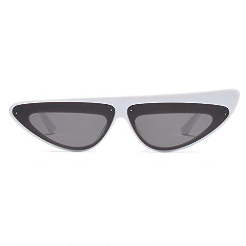 Mesdames Cat de Lunettes Lunettes Eye Protection Blanc 100 ZHHL asymétriques la des Soleil Soleil de de UV400 Rétro Femmes des personnalité wXxd8F