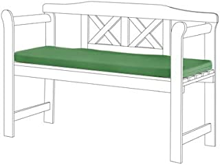Green Cushion Pad for Small 2 Seater Garden Bench Special Made to Fit Size