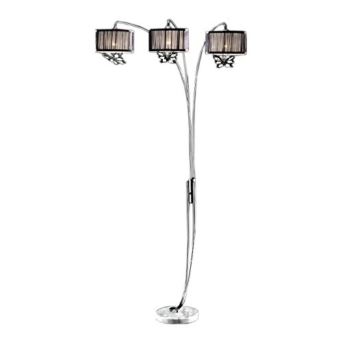 ORE International K-9745C Hydra Black Crystal Butterfly Shade Arc Floor Lamp ..#from-by#_4234y34ATG Stores -kot#424252388521167 (Hydra Crystal compare prices)