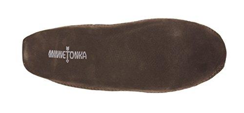 Minnetonka Hommes Double Fond Polaire Pantoufle Chocolat