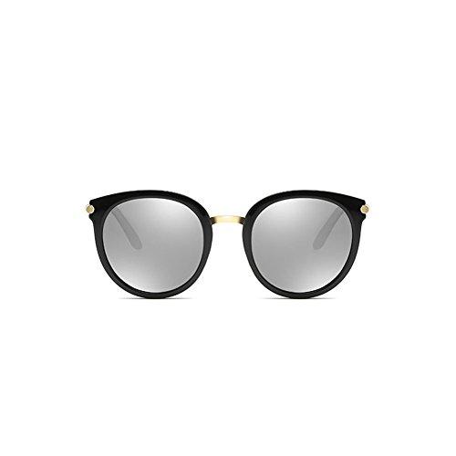 de de polarizadas Sol Marco Grandes DT Gafas Redonda Conducción Sol Cara de 2 de Color de Gafas Gafas 5PqfStwx