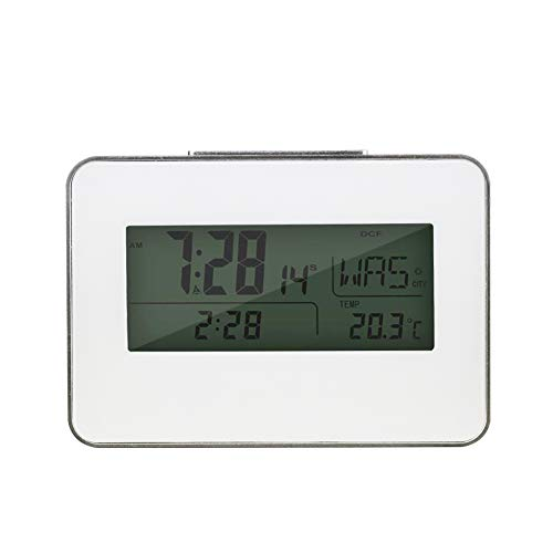 Usa Time Zone Display - JIMEI Large Atomic Travel Alarm Clock with Battery Operated,Easy to Read Date,Temperature & Humidity.8 Time Zones.Indoor,Outdoor,Bedrooms