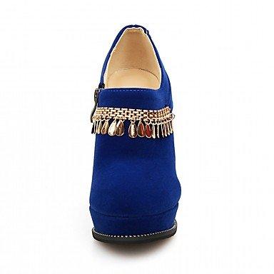 AIURBAG - Damen-High Heels-Büro Lässig Kleid-Kunstleder-Blockabsatz-Light Up Schuhe-Schwarz Rot Blau - AIURBAG 165500
