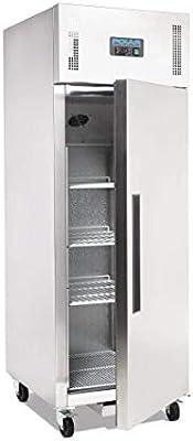 Polar única puerta congelador inoxidable acero 600ltr restaurante ...
