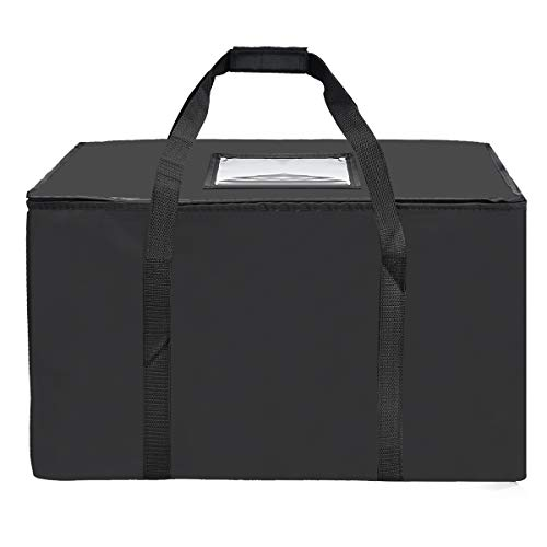 Nylon Large Insulated Food Delivery Bag; 23in x 13in x 15in(H); Perfect Pizza Delivery Bag;