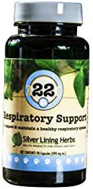Silver Lining Herbs Respiratory Support Supports and Maintains a Dogs Lung Function and a Healthy Respiratory System Made in The USA of Natural Herbs