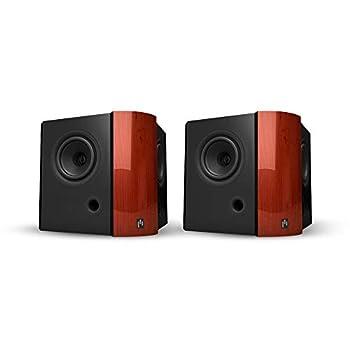Aperionaudio Verus Dipole/Bipole 4DB 4-inch HiFi Home Theater Surround Satellite Speaker (Pair Piano Gloss Cherry)