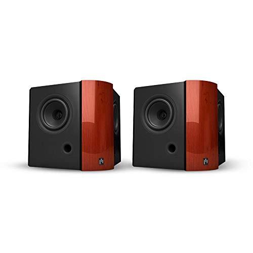 Aperionaudio Verus 4DB Surround Speaker, Satellite Speaker, hometheater (Pair Piano Gloss Cherry)