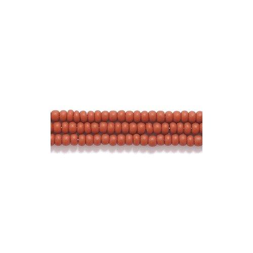 Preciosa Ornela Czech Seed Bead, Opaque Matte Light Brown, Size 11/0
