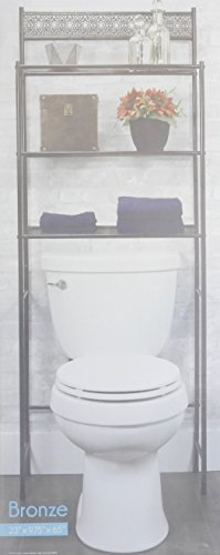 DINY Home Collections 3 Shelf Over The Toilet Spacesaver Easy to Assemble (Bronze) 65'' Tall by DINY Home Collections